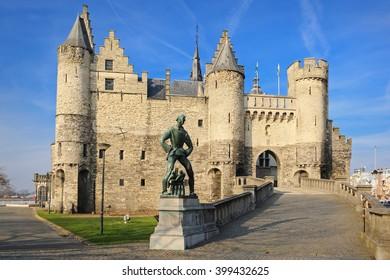 """National Maritime Museum at the castle Het Steen"""" in Antwerp, Belgium"""