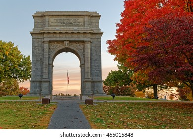 The National Memorial Arch is a  monument dedicated to George Washington and the United States Continental Army. This monument is located at Valley Forge National Historical Park in Pennsylvania, USA.