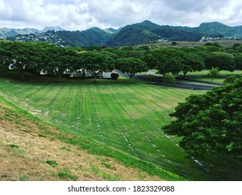 """National Memorial Cemetery of the Pacific, also known as the """"Punchbowl"""", Honolulu, Hawaii"""