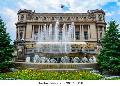 The National Military Palace (Cercul Militar National) In Downtown Bucharest On Victory Avenue was built in 1912 by architect Dimitrie Maimarolu in French neoclassic style.