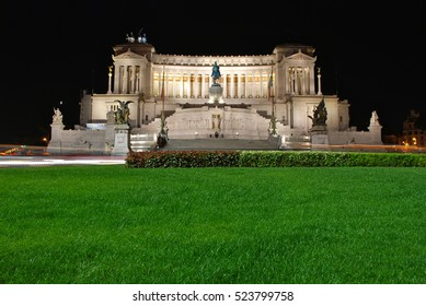 The National Monument to Victor Emmanuel II.The monument is in honor of Victor Emmanuel, the first king of a unified Italy.