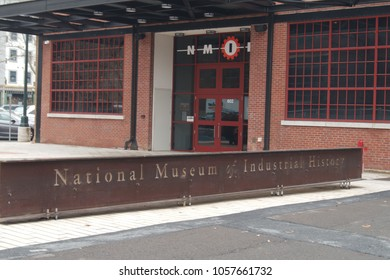 The National Museum of Industrial History (NMIH) is a industrial museum located on part of the former Bethlehem Steel Corporation site in Bethlehem, Pennsylvania (Photographed 03/29/18)