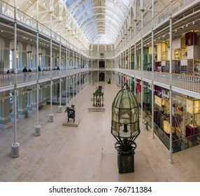 The National Museum of Scotland in Edinburgh, the Victorian hall grand gallery opened again after being refurbished. October 2012