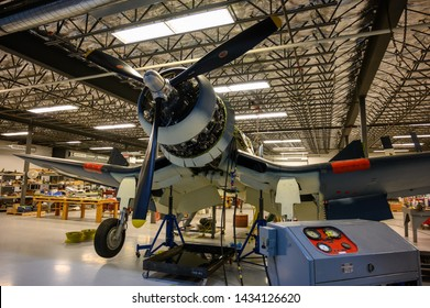 National Museum of World War II Aviation, Colorado Springs, Colorado, USA - 5/2019: Republic P47D-40 Thunderbolt
