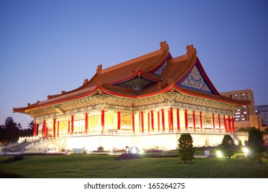 National Music Hall of Taiwan in the evening