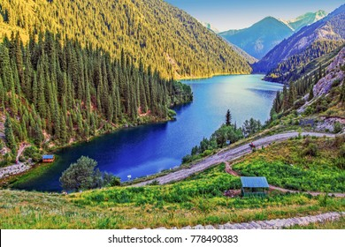 The national nature park is the Kolsay lake. Near Almaty. Kazakhstan