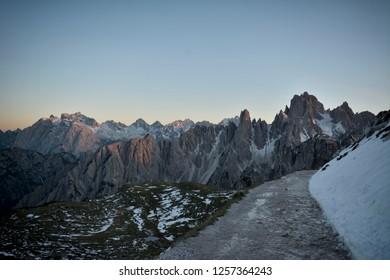 National Nature Park Tre Cime In the Dolomites Alps
