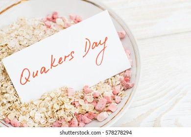 National oatmeal month, oatmeal in a bowl, Quakers oats