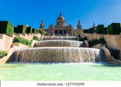 National Palace of Barcelona on mountain Montjuic, Spain