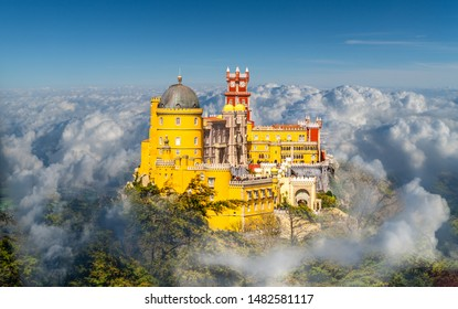 National Palace of  Pena, Sintra region, Lisbon, Portugal