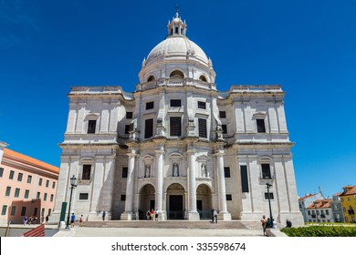 National Pantheon in Lisbon (Church of Santa Engracia) in a summer day on July  in Lisbon, Portugal