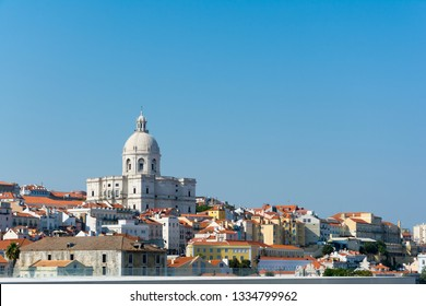 National Pantheon (the Church of Santa Engracia) in Lisbon, Portugal. View from Tajo river - Image