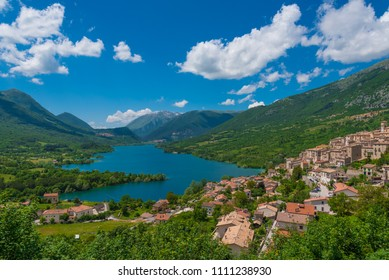 National Park of Abruzzo, Lazio and Molise (Italy) - The spring in the italian mountain natural reserve, with landscapes, wild animals, little old towns, the Barrea Lake and Camosciara park