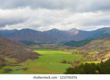 National Park of Abruzzo, Lazio and Molise (Italy) - The autumn in the italian mountain natural reserve, with wild animals, little old towns, the Barrea Lake. Here: the Sangro valley