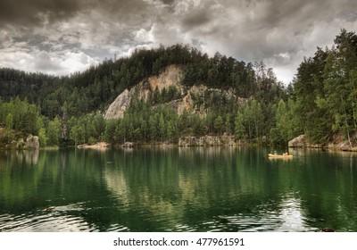 National Park of Adrspach-Teplice rocks. Rock Town. Czech Republic