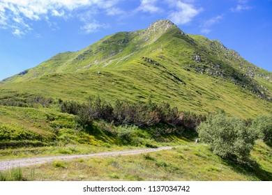 national park appennino tosco emiliano mountain monte prado and mountain cusna italy