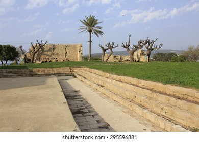National Park of Biblical City of Achziv in the Mediterranean Coast of Israel