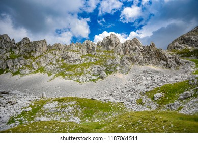 National Park Durmitor landscape. Mountains Durmitor in Montenegro.