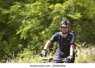 "NATIONAL PARK GALICICA,MACEDONIA -JUNE 21, 2015:Bicycle Tour ""Tour de Galichitsa"" .is held the second year on the road trough mountain Galichitza,between Lakes Ohrid and Prespa in Macedonia"