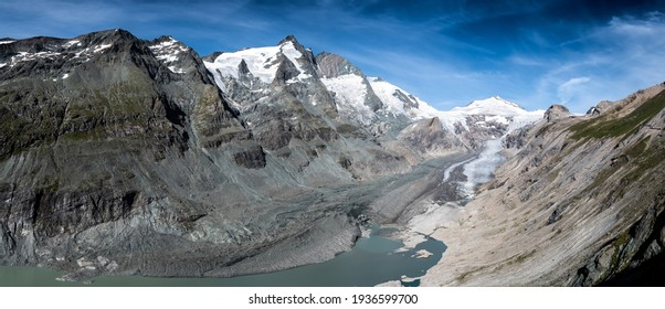 National Park Hohe Tauern With Grossglockner The Highest Mountain Peak Of Austria And Its Glacier Pasterze