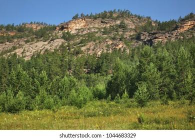 National Park Karkaraly near Karkaralinsk. Karaganda Oblast. Kazakhstan