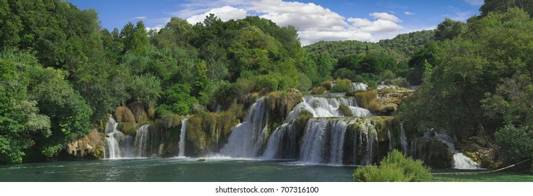 National Park KRKA River Waterfall in Croatia