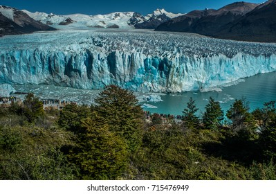 National park of Perito Moreno Glacier. Argentina. Patagonia.