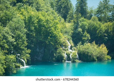 National Park Plitvice Lakes view - waterfall