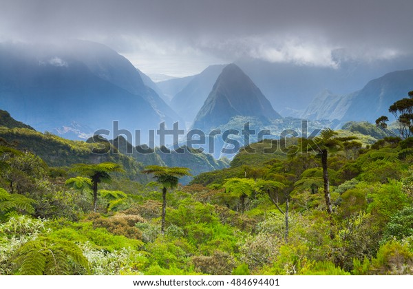 National Park Reunion Island in Indian Ocean