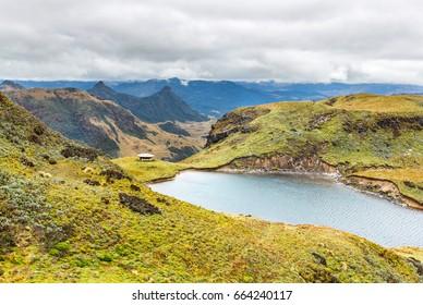 National park Sangay in Ecuador