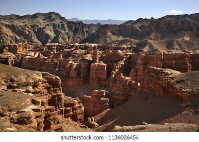 National Park Sharyn Canyon (Valley of castles). Kazakhstan