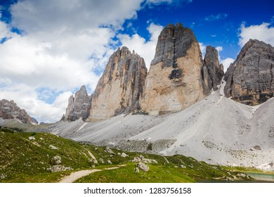 National Park Tre Cime di Lavaredo. Dolomites, South Tyrol. Italy, Europe