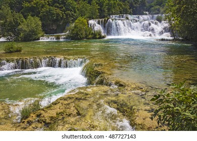 National Park Waterfalls Krka in Dalmatia Croatia Europe