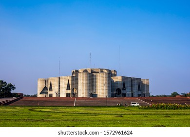 National Parliament (Front Side) of Bangladesh. Architect - Louis Kahn