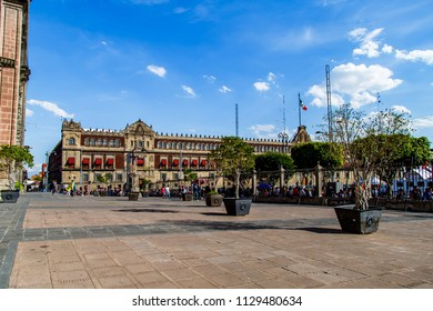 The National or Presidential Palace, the one of the oldest buildings in Mexico City, Mexico.  It was commissioned and designed by Hernan Cortez.