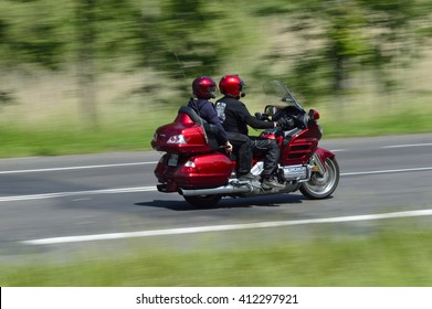 National Road No. 6, around Koszalin, Poland, May 16, 2015; Honda Gold Wing  driving such a machine that comfort and prestige, and what a joy.