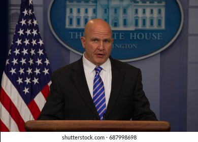 National Security Advisor H. R. McMaster addresses the press during the White House daily briefing, Friday, May 12, 2017.