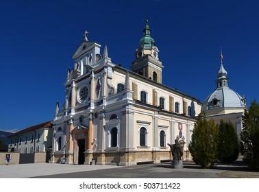The National Shrine Mary Help of Christians at Brezje, Slovenia, Europe