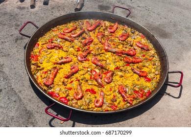 The national Spanish dish of paella