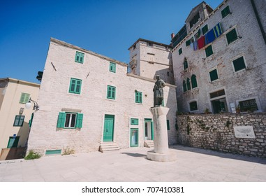 National square and monument in Sibenik, Croatia