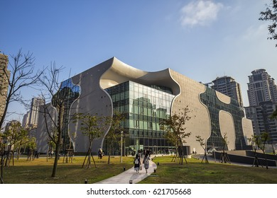 National Taichung Theater, Taichung, Taiwan - 26 Feb, 2017: It was designed by Japanese architect Toyo Ito in collaboration with Cecil Balmond at Arup AGU.