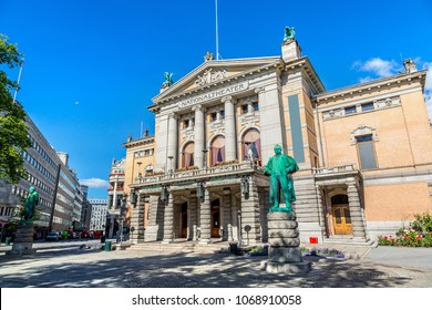 National Theatre in Oslo in a summer day, Norway
