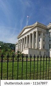 National Treasury building in Washington DC