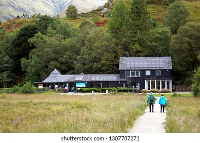 National trust for Scotland, Glenfinnan visitor centre, Scottish Highlands, September 2018
