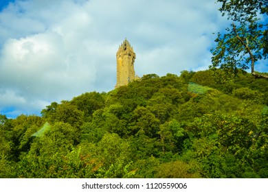 National Wallace Monument (or Wallace Monument), a tower standing on the shoulder of the Abbey Craig, a hilltop overlooking Stirling in Scotland