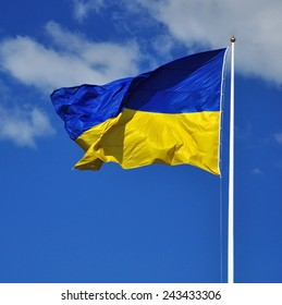 National yellow-blue flag of Ukraine