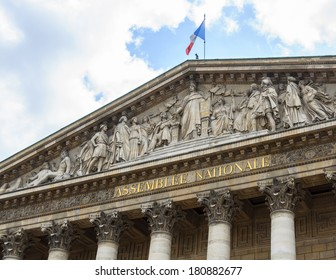 The Assembl���©e Nationale building in Paris, France