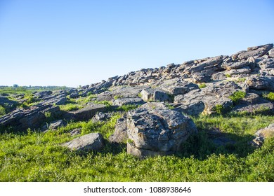 "National-historical and archaeological reserve ""Stone Grave or Rocky Mound Kamena Mohyla"" near Melitopol, Ukraine"