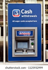 Nationwide ATM or Automatic Teller Machine, Dorset, June 2018