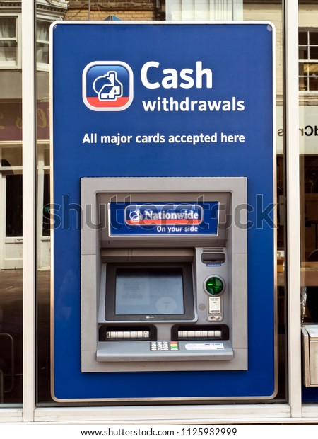 Nationwide ATM or Automatic Teller Machine, Dorset, June 2018